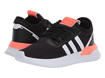 adidas Originals Kids U_Path X (Little Kid) (Black/White/Signal Coral) Kids Shoes
