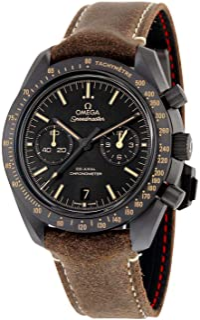 Reloj Omega Speedmaster Moonwatch Co-Axial, cronógrafo, con esfera negra, para hombre, 31192445101006