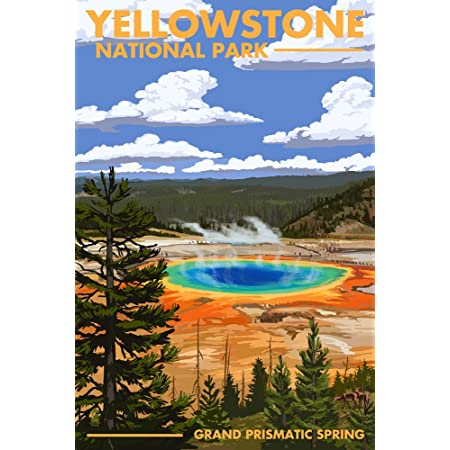 1920/'s Vintage Yellowstone National Park Travel Art Print Poster Wyoming