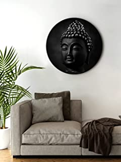 999Store small frames for wall decor room office buddha Face Black Color Round Shape wall art painting wall hanging (MDF_1...