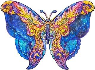 156 PièCes de Puzzle en Bois (Papillon) - Pièces de Puzzle De Forme Unique - Meilleur Cadeau Pour Adultes et Enfants - Puz...