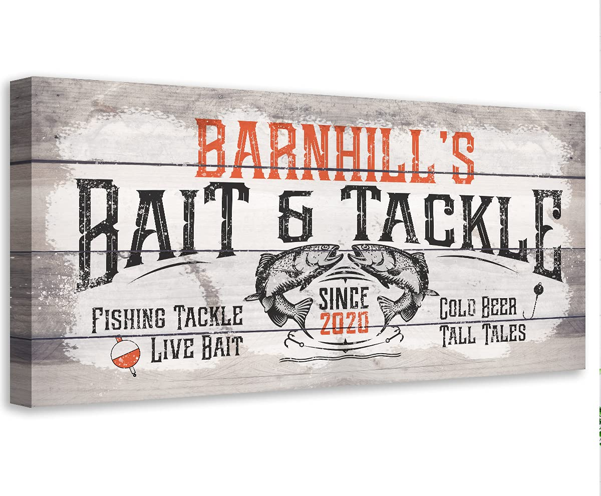 Personalized - Bait Tackle Large Printe Not Year-end gift Art Wall Canvas Recommended