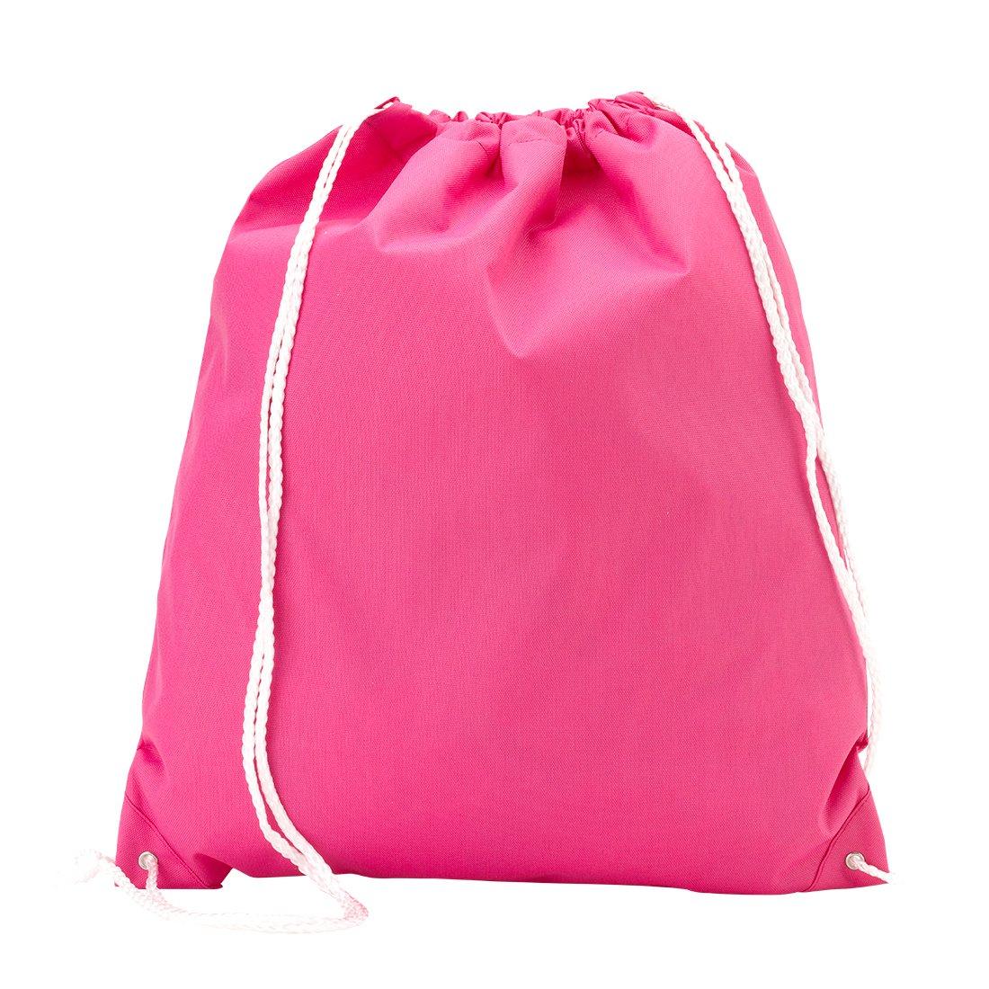 卸売ブティックバックパックスタイル巾着フィットネスバッグピュアピンク