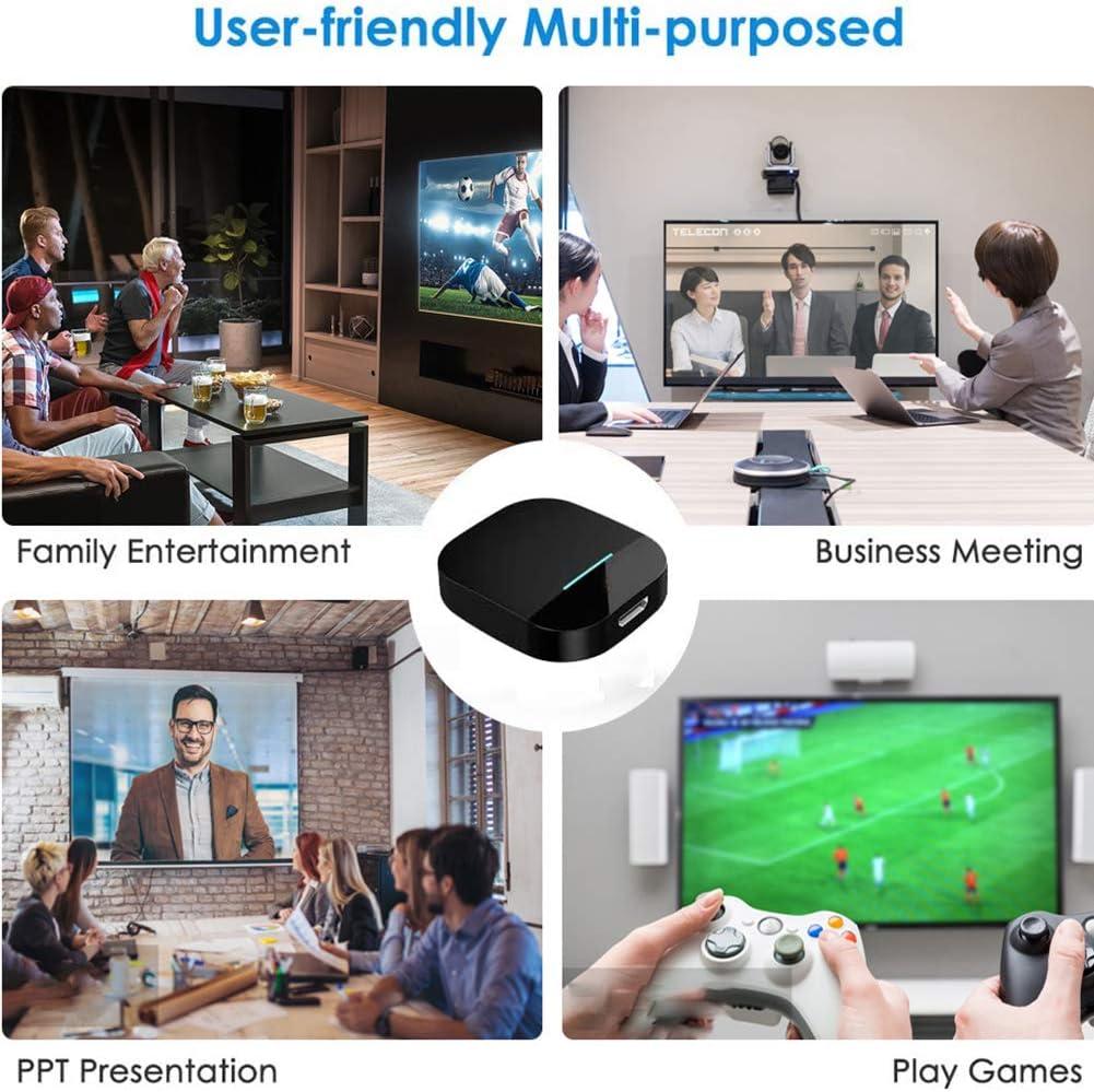 Wireless HDMI Display Dongle Adaptador de Pantalla HDMI Inal/ámbrico 1080P Streaming Stick Display Dongle Transmisi/ón para Android//iOS//Windows//Mac OS a HDTV//Monitor//Proyector