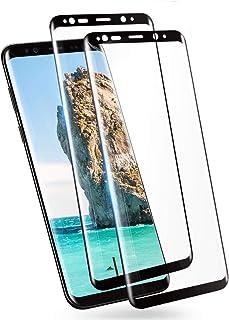 GalaxyS9 ガラスフィルム ギャラクシー S9 フィルム 強化ガラス S9 ガラス SC02K SCV38 液晶保護 フィルム 指紋防止【2枚セット】【全面保護/干渉しない/貼り付け簡単/本体の湾曲する端まで貼れる/気泡ゼロ】