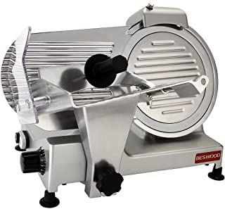"""BESWOOD 10"""" Premium Chromium-plated Carbon Steel Blade Electric Deli Meat Cheese Food Slicer Commercial and for Home use 240W BESWOOD250"""