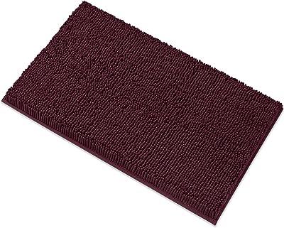 MAYSHINE Bath mats Bathroom Rugs Soft, Absorbent, Shaggy Microfiber,Machine-Washable, Perfect Door Mat (20X32 inch Burgundy)
