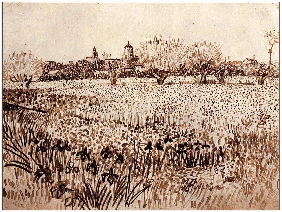 ArtPlaza Van Gogh Max 71% OFF Vincent - View 35.5 Panel Arles Decorative Reservation of