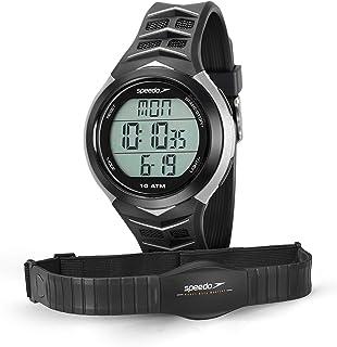 Relógio Monitor Cardíaco, Speedo, 80621G0EVNP2, Preto/Cinza