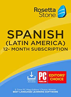 Rosetta Stone: Learn Spanish (Latin America) for 12 months [Auto-recurring Subscription]