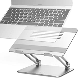 Adjustable Laptop Stand, EPN Laptop Riser with Heat-Vent to Elevate Laptop, Aluminum Notebook Holder Compatible for MacBook Pro/Air, Surface Laptop, Dell XPS, HP, Samsung, Lenovo, Other 11-17.3 Inches