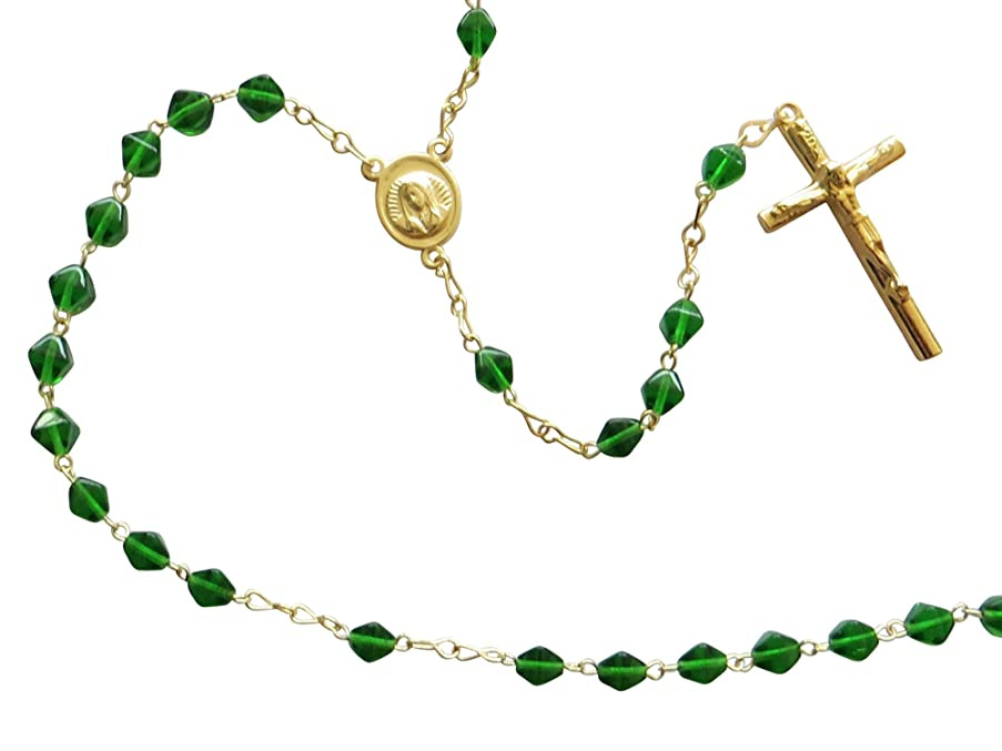 Rosary with Esmerald Beads