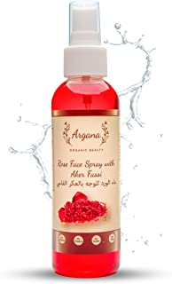 Certified Organic Hydrating Rose Water With Moroccan Aker Fassi Powder Spray 150ml | Refreshing Facial Mist for Glowing Sk...