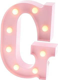 pink letter g