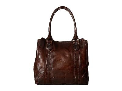 Frye Melissa Tote (Dark Brown Antique Pull Up) Tote Handbags