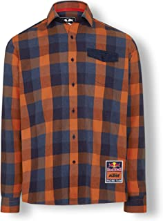 Red Bull KTM Checked Flannel Shirt, Multicolour Mens Shirt, KTM Factory Racing Original Clothing & Merchandise