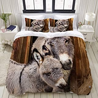 100/% Baumwolle Bettbezug und Kissenbezug Bettw/äsche Set Neuheit Tier Soft Bettbezug Set f/ür Kinder Baby Junge M/ädchen Giraffe, 2 Teilig 135x200 cm