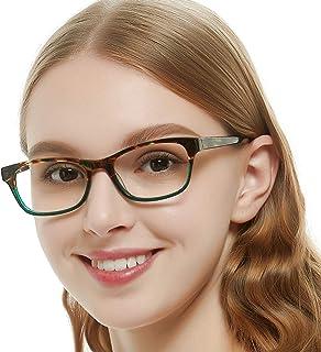4a44597bb113 OCCI CHIARI Rectangle Stylish Non-prescription Optical Women Eyewear Frame  With Clear Lens