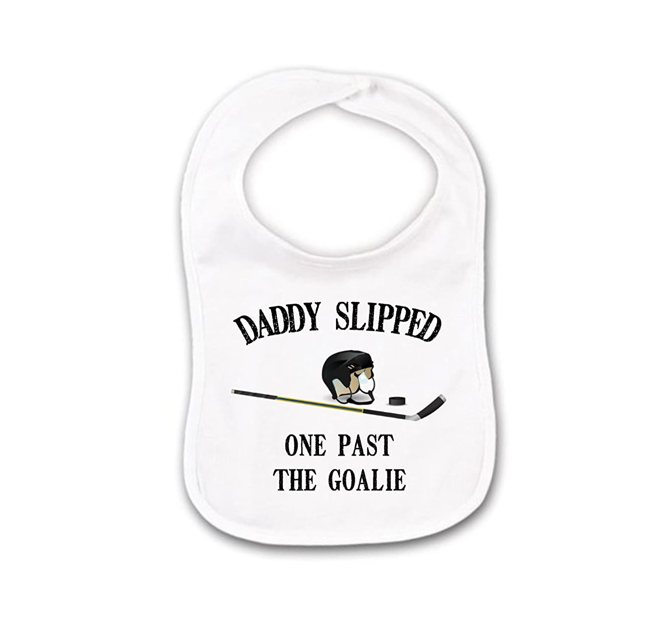 Funny Daddy Hockey Baby Bib or Burp Cloth For Gender Neutral Unisex Girl or Boy