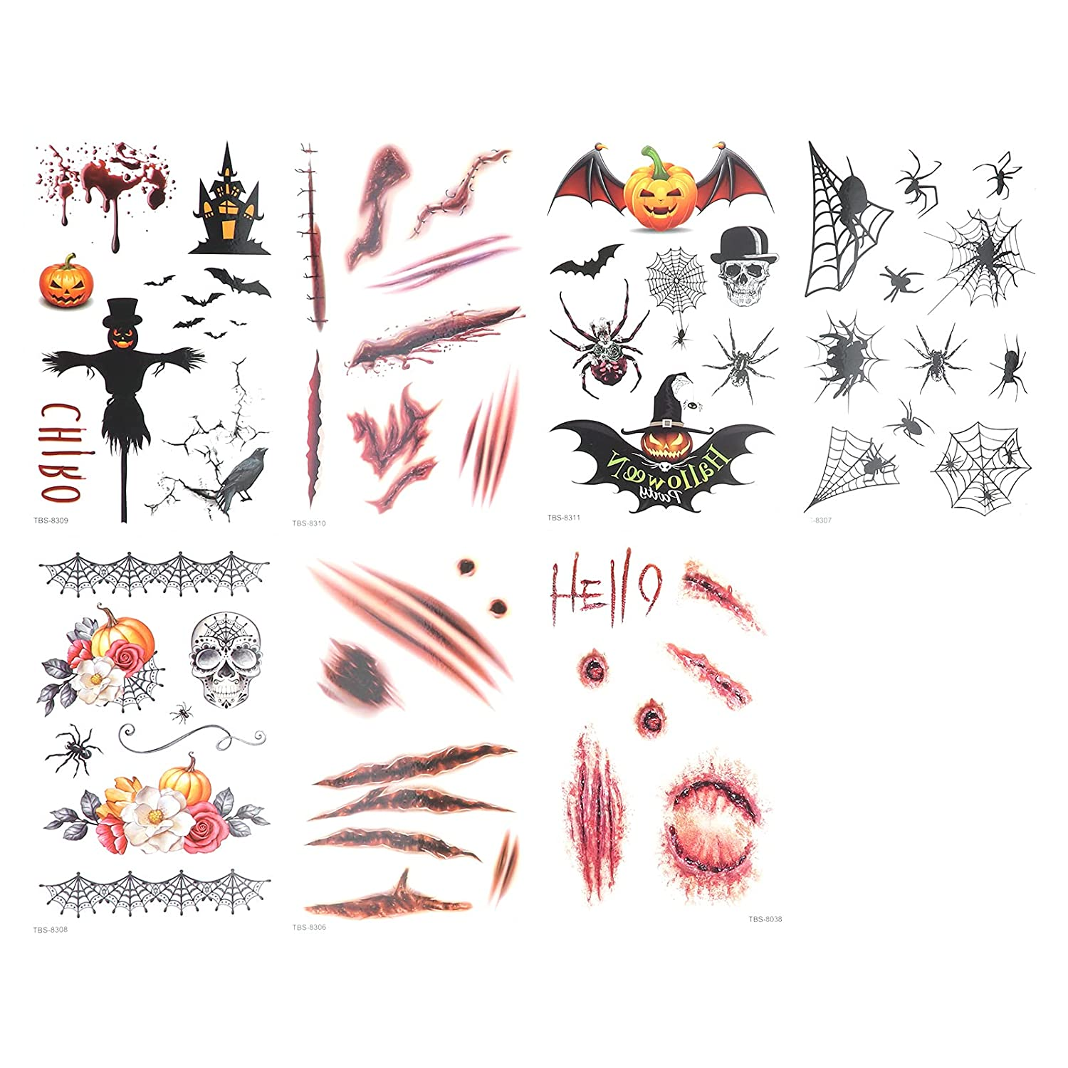 7pcs Temporary Spring new work Tattoo Stickers Costume Limited Special Price Women Tattoos for