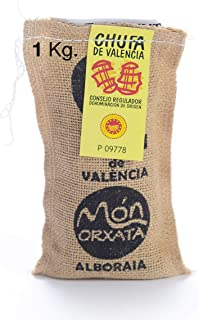 Saco yute 1 kg Chufa tradicional D.O. València - Món Orxata. Directa de familias agricultoras. Ideal para consumo en crudo...