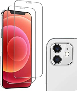 iphone 12 Mini Screen Protector Include 2 Pack iPhone 12 Mini 5.4 inch Tempered Glass + 1 Pack iPhone 12 mini Film Camera ...