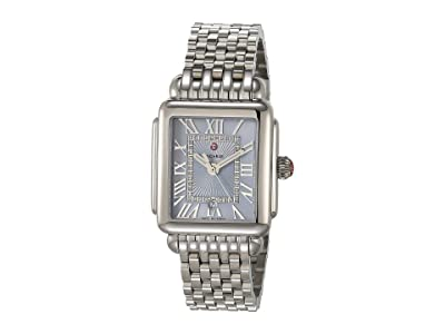 Michele Deco Madison Mid Blue Sunray Dial (Silver) Watches