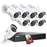 Amazon.com : A-ZONE Security Camera System 4 Channel 1080P ...