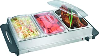J-Jati 16x26 Buffet Warmer Server - Professional Hot Plate Food Warmer Station , Easy Clean Stainless Steel , Portable & Great for Parties Holiday & Events - Max Temp 175F