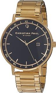 Christian Paul Men ABG4325 Year-Round Analog Quartz Gold Watch