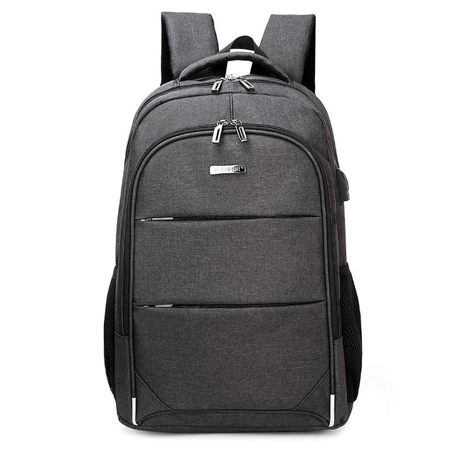 効率的に却下する腐敗FANDARE リュックサック USB ポート付き 登山バッグ メンズ 大容量 学生 旅行 防水 バックパック デイパック 高品質 ポリエステル 黒