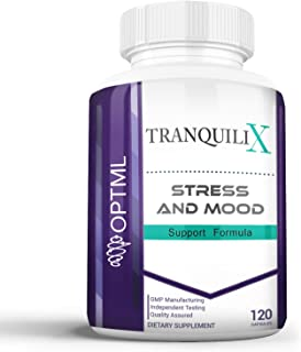 TranquiliX Anxiety and Stress Relief Formula, Advanced Anti-Anxiety Mood Support, Sleep Aid, Reduce Panic Attacks, Increas...