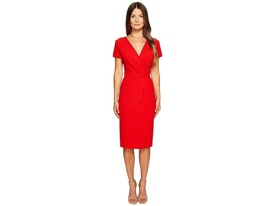 ESCADA Dsipora Short Sleeve Wrap Dress (Acrylic Red) Women