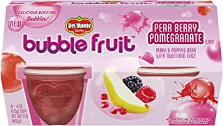 Del Monte Bubble Fruit, Pear Berry Pomegranate, 4-Ounce, 4-Count (Pack of 6)
