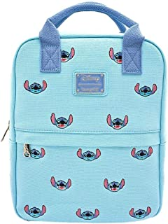 Loungefly x Lilo and Stitch Stitch Face Embroidered Canvas Backpack