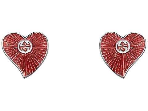 Gucci Enameled Heart Earrings