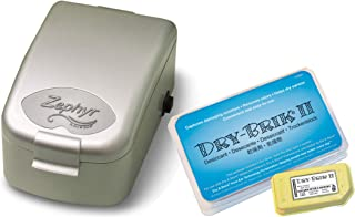 Zephyr by Dry & Store® Hearing Instrument Dryer/Dehumidifier - Includes Extra 3 Pack of Dry-Brik II Desiccant Blocks | For Hearing Aids | Cochlear Processors | In-Ear Monitors