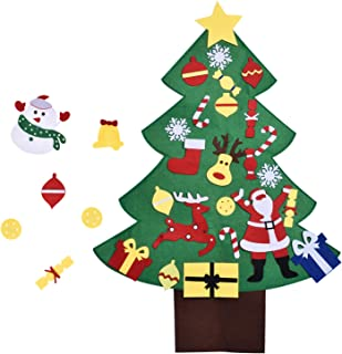 3FT DIY Christmas Tree for Kids with 28PCs Felt Ornaments, Classroom Door & Wall Decorations, DIY Toys, Party Favor