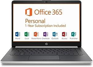 """HP 14"""" HD Intel N4000 2.6GHz 4GB RAM 64GB eMMC Webcam Windows 10 Laptop + 1 Year Microsoft Office, Silver, 14-14.99 inches..."""