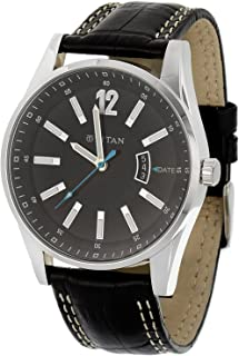 titan leather strap watches