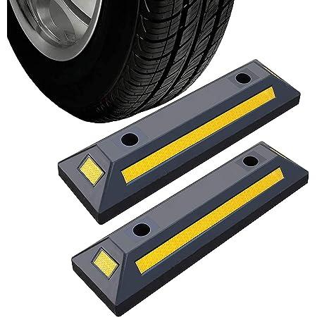 2er Radstopper Anfahrschutz Radstopp Parkbegrenzung Abgrenzung Einparkhilfe Für Parkhaus Carport Parkplatz Garage Parking 55 X 15 Cm Baumarkt