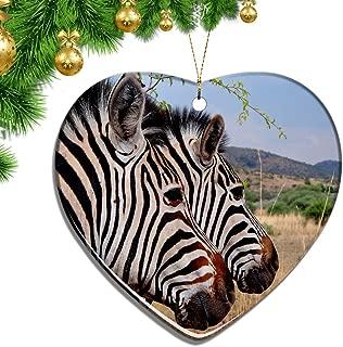 Hqiyaols Ornament South Africa Zebra Pilanesberg National Park Suncity Christmas Ornaments Ceramic Sheet Souvenir City Travel Pendant Gift Tree Door Window Ceiling Decoration Collection