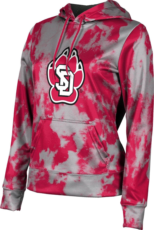 University of South Dakota Girls' Pullover Hoodie, School Spirit Sweatshirt (Grunge)