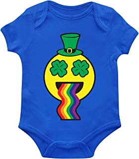Leprechaun Emoji Throwing Up Rainbow Infant Bodysuit