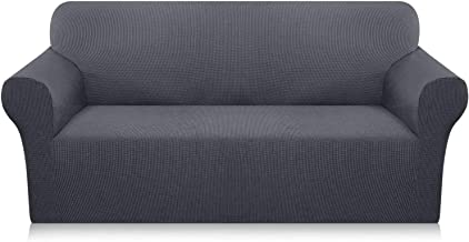 Home-Mart Stretch Sofa Covers 3 Seater Couch Covers for Living Room Sofa Slipcovers Furniture Covers with Elastic Bottom, ...