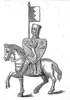 サイモン・デ・モンフォート N(C1208-1265) 英語兵士 ガラス絵画 C1231 シャルトル大聖堂ポスター プリント (24 x 36)