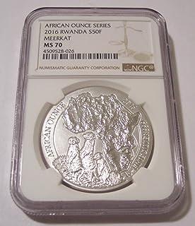 2016 RW Rwanda 1 Ounce Silver Meerkat 50 Francs MS70 NGC