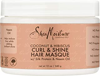 Shea Moisture Coconut and Hibiscus Curl and Shine Hair Masque by Shea Moisture for Unisex - 12 oz Masque, 408.23 grams
