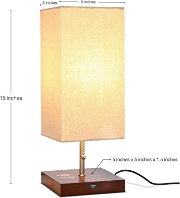 3 Way Touch Control Dimmable Table Lamp With 2 Usb