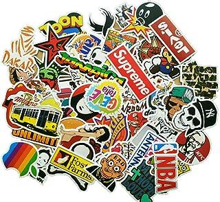 Eposeedor Pegatinas Coche, Paguete de 100 Unidades Graffiti Stickers en Vinilo Coche, Pegatinas Moto, Habitación, Skateboard, Maleta, Ordenador, Portátil, Vaso, Guitarra, Bicicleta, Casco Moto